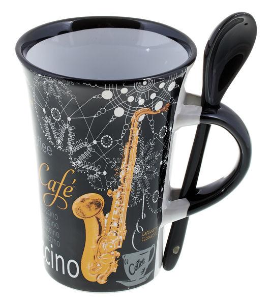 Music Sales Cappuccino Mug Saxophone Bl.