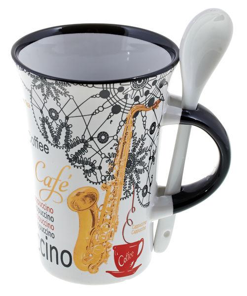 Music Sales Cappuccino Mug Saxophone Wh