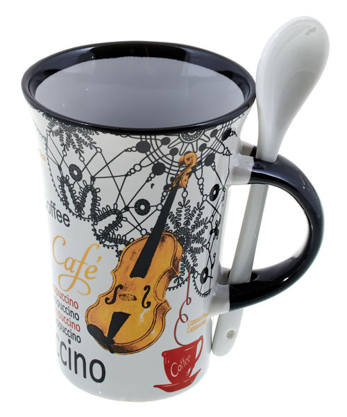 Music Sales Cappuccino Mug Violin White