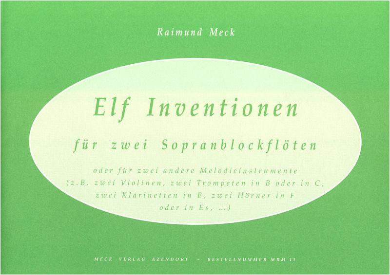 Meck Verlag Zwölf Inventionen for Sopranbl