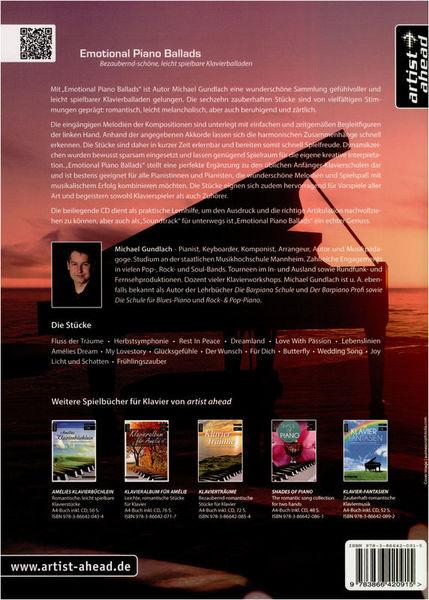 Artist Ahead Musikverlag Emotional Piano Ballads