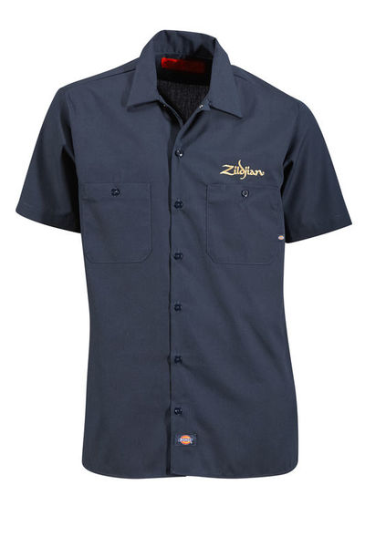 Zildjian Dickies Work Shirt Navy S