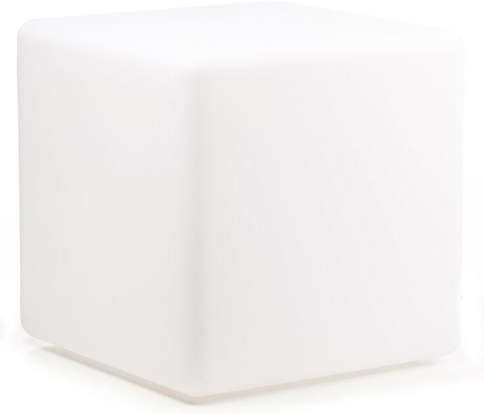 Varytec LED Cube & Seat White PE
