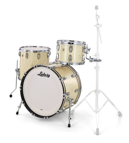 Ludwig Classic Maple Fab 22 Vint. Wh.