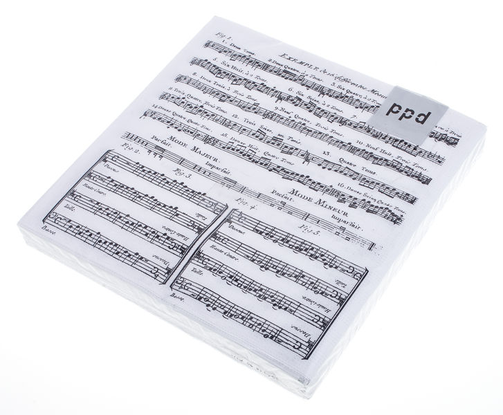 Musikboutique Hahn Napkins Music Sheet