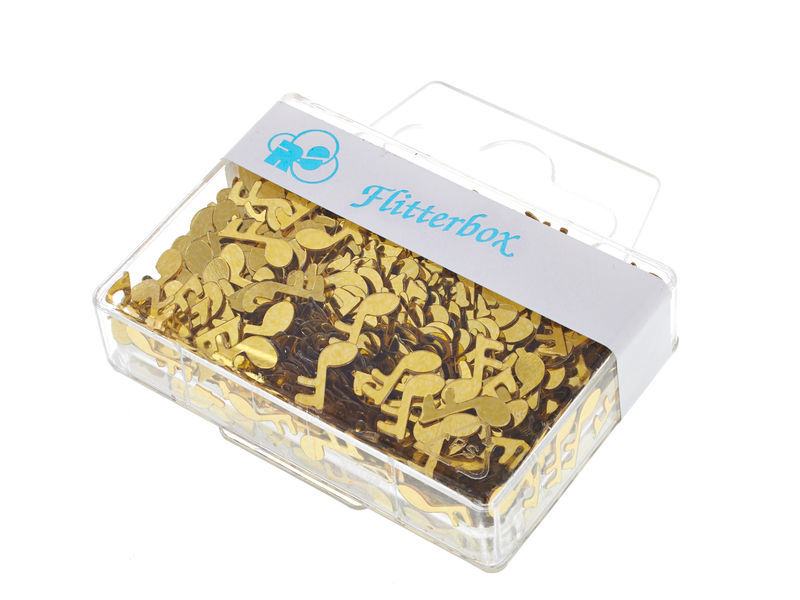 Musikboutique Hahn Note Confetti Gold