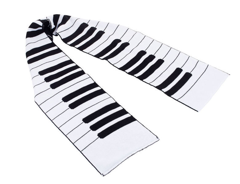 Musikboutique Hahn Knitted Scarf Keyboard