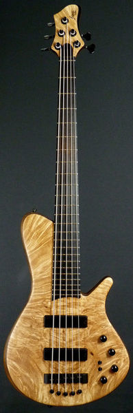 Franz Bassguitars Sirius 5 Maple Burl