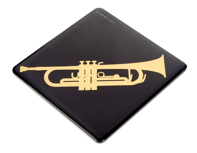A-Gift-Republic Magnet & Coaster Trumpet Gold