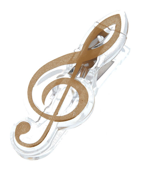 A-Gift-Republic Music Clip Violin Clef Gold