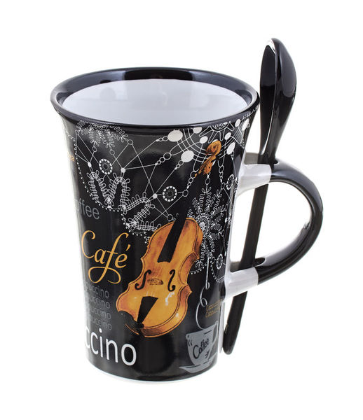 Music Sales Cappuccino Mug Violin Black