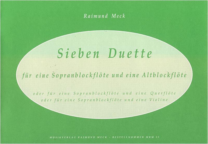 Meck Verlag Sieben Duette f.Sop/Altblock.