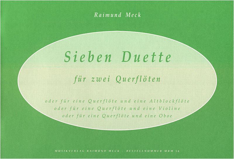 Meck Verlag Sieben Duette f. 2 Querflöten
