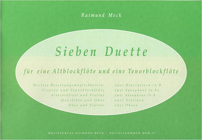 Meck Verlag Sieben Duette f. Altbl/Tenorbl