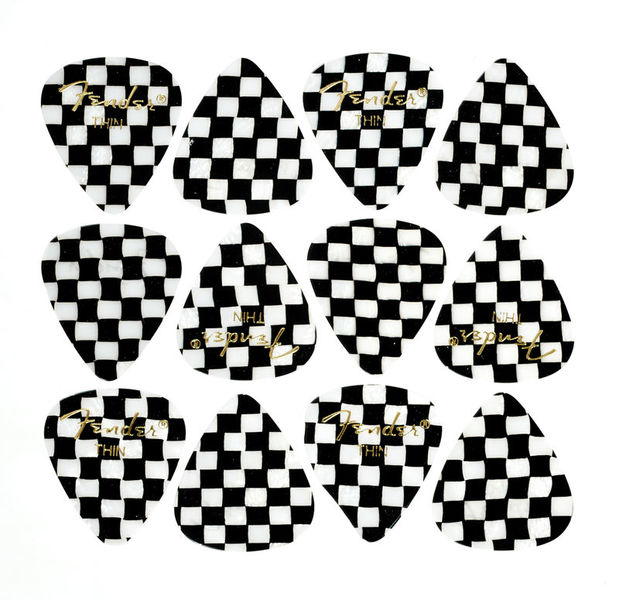 Fender 351 Checker Picks Thin Set