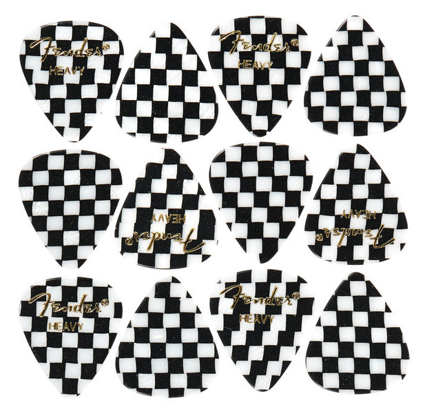 Fender 351 Checker Picks Heavy Set