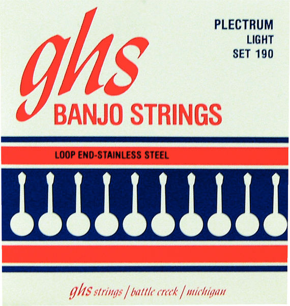 GHS Banjo Steel 4 String Set