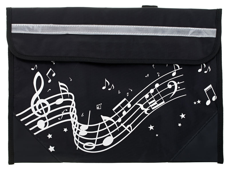 Music Sales Wavy Stave Music Bag (Black)