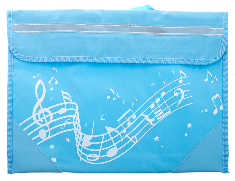 Music Sales Wavy Stave Music Bag (Blue)