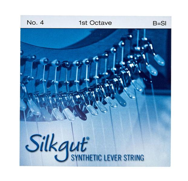 Bow Brand Silkgut 1st B Harp String No.4