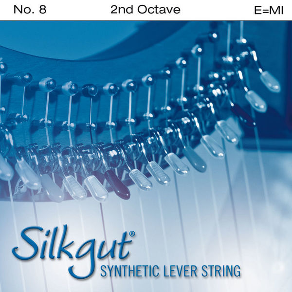 Bow Brand Silkgut 2nd E Harp String No.8