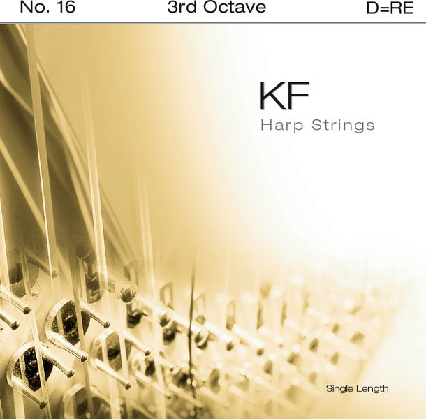 Bow Brand KF 3rd D Harp String No.16