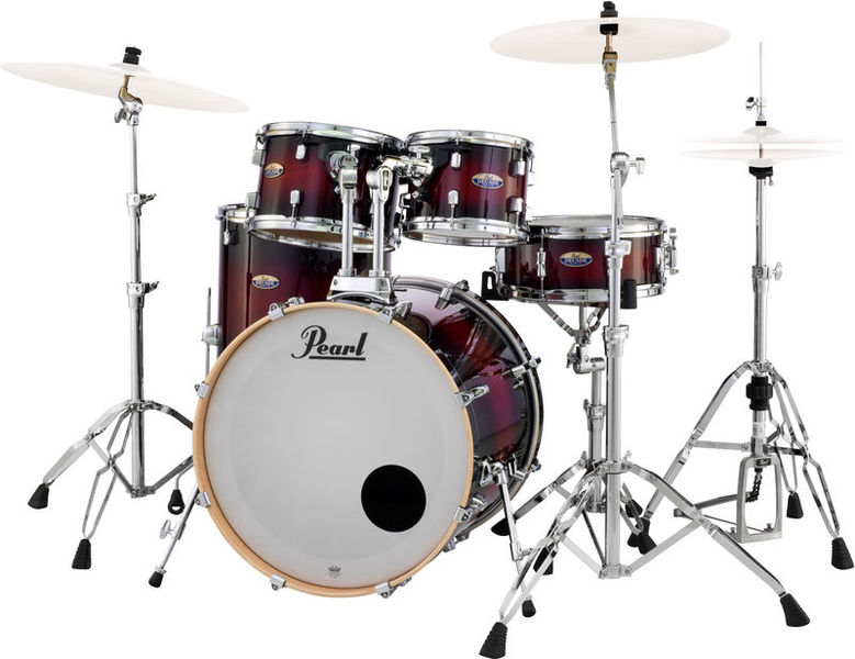 Pearl Decade Maple Fusion Red Burst