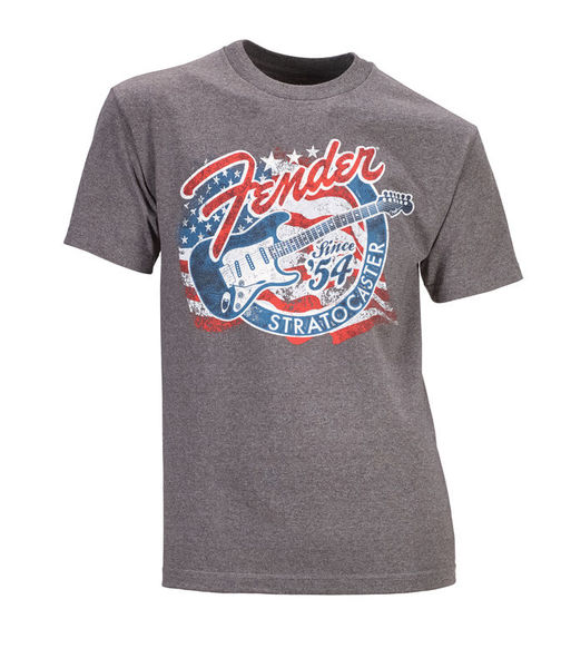 Fender T-Shirt Stars Stripes Strat L
