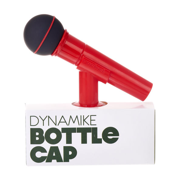 Rocket Bottle Cap Microphon Red