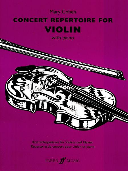 Faber Music Concert Repertoire for Violin