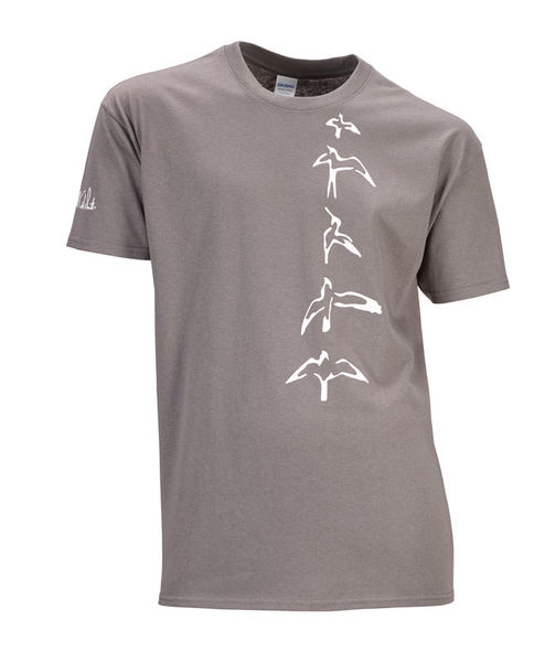 PRS T-Shirt Charcoal Bird S