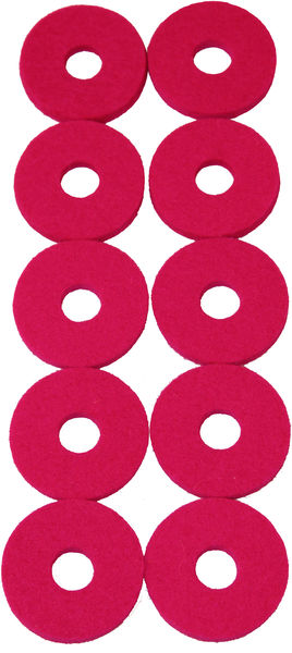 Colour Your Drum Cymbal Felts Pink