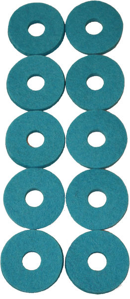 Colour Your Drum Cymbal Felts Turquoise
