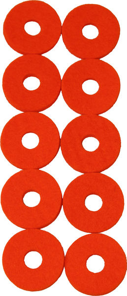 Colour Your Drum Cymbal Felts Orange