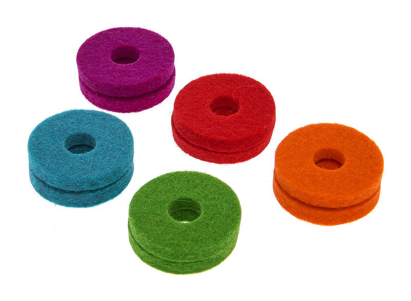 Colour Your Drum Cymbal Felts Mixed