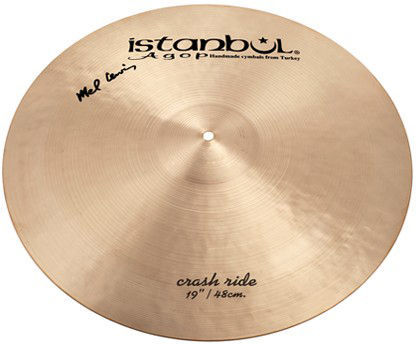 "Istanbul Agop 19"" Mel Lewis Sign. Crash-Ride"