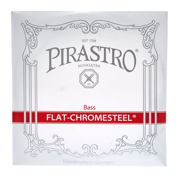 Pirastro Flat-Chromesteel D Bass medium