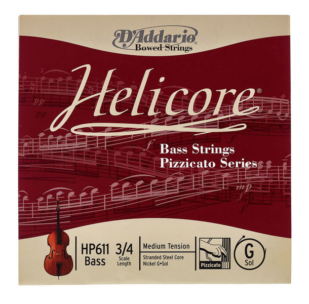 Daddario HP611-3/4M Helicore Bass G Med