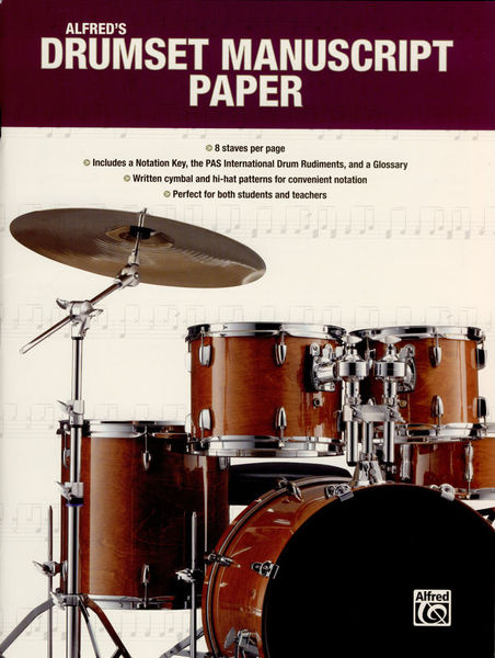 Alfred Music Publishing Drumset Manuscript Paper