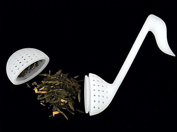 A-Gift-Republic Tea Strainer Eighth Note White