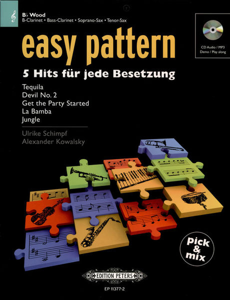 C.F. Peters Easy Patterns 5 Hits Bb Wood