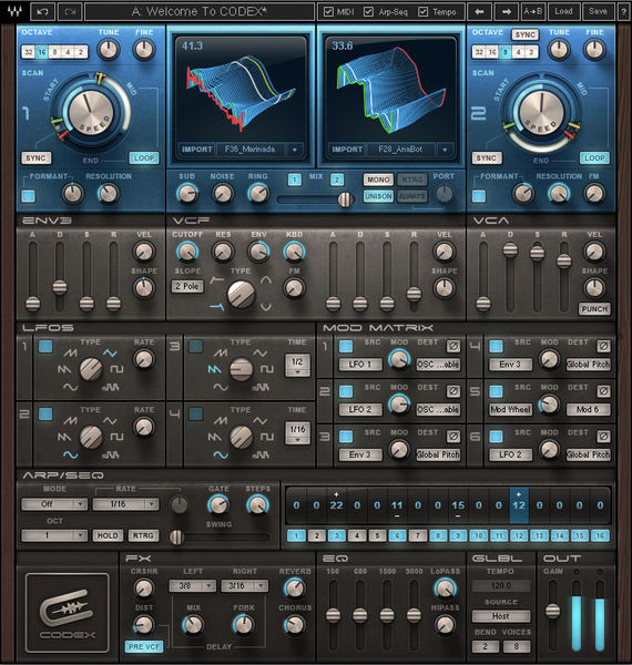 Waves Codex Wavetable Synth