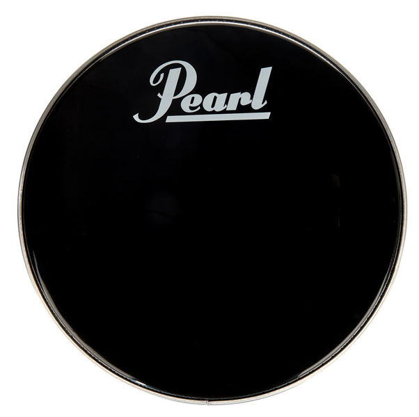 "Pearl 18"" Bass Drum Front Head Black"