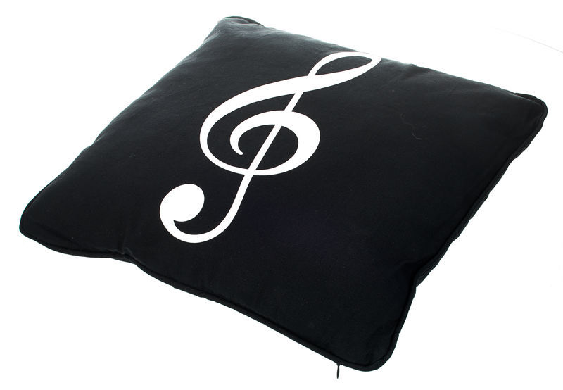 A-Gift-Republic Black Pillow with G-Clef
