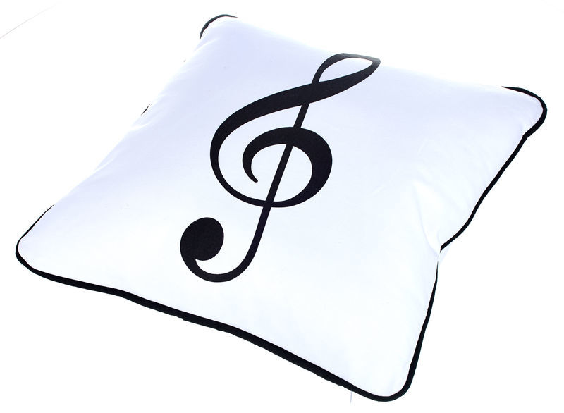 A-Gift-Republic White Pillow with G-Clef