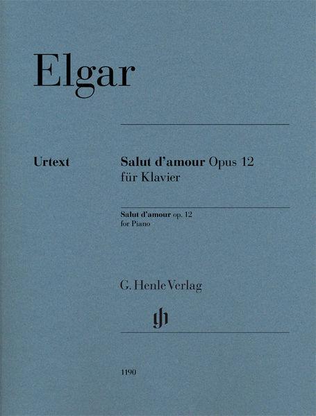 Henle Verlag Elgar Salut d'Amour Piano
