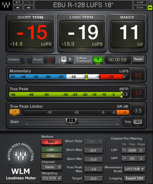 Waves WLM Plus Loudness Meter