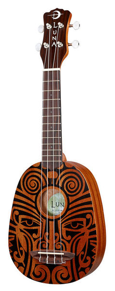 Luna Guitars Uke Tribal Pineapple