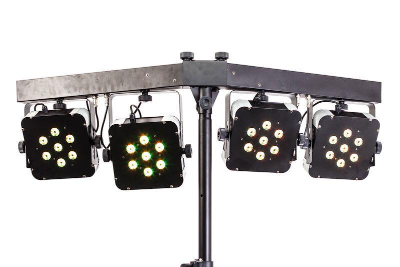 Varytec LED Pad Bar Compact 4x7 RGB 3W