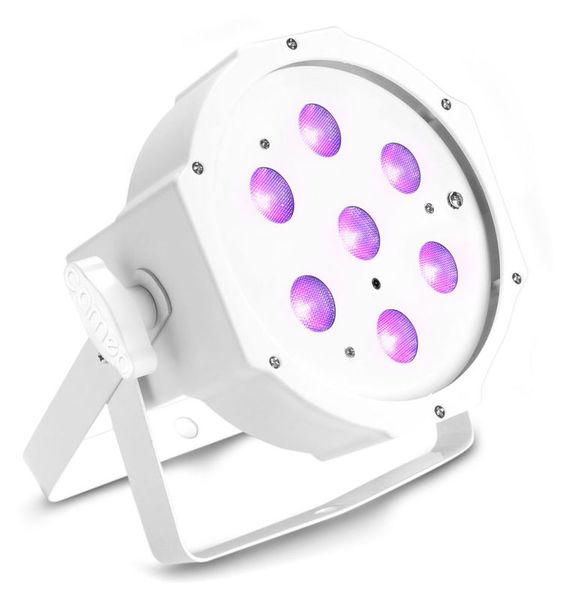 Cameo Flat PAR Can 1 UV 7 x 3W IR WH